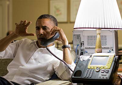 Today President Obama worked through some computer issues with NSA tech support.